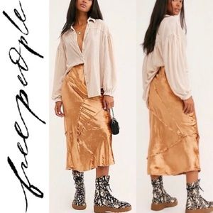 🆕 Free People Serious Swagger Velvet Maxi Skirt M
